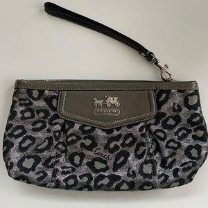 Coach leopard print clutch